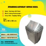 Tong sampah stainless kotak kecil