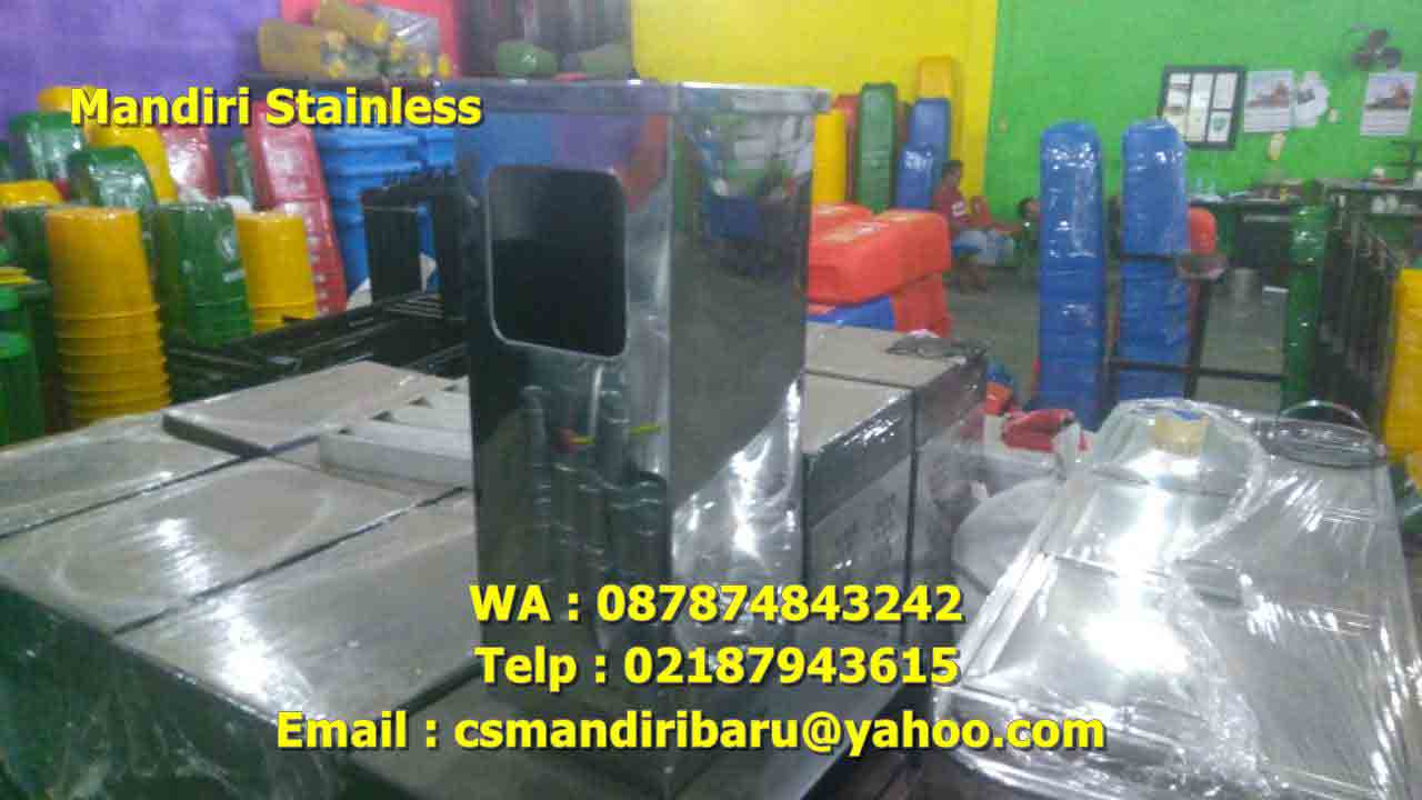 jual tong sampah stainless steel,