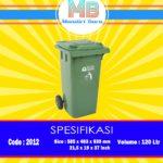 Tong sampah plastik 120 Liter