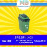 Tong sampah plastik 36 Liter