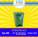 Tong sampah Plastik 45 Liter Pedal