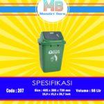 Tong sampah plastik 58 Liter