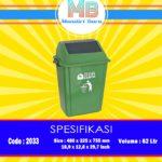 Tong sampah plastik 62 Liter