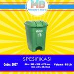 Tong sampah plastik pedal 65 Liter