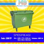 Tempat Sampah Plastik 660 Liter