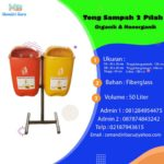 Tong sampah fiber 2 in 1 oval 50 liter