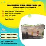 Tempat sampah stainless 4 in 1 Custom Konsumen