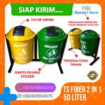 Tong sampah fiber 2 in 1 bulat 60 Liter