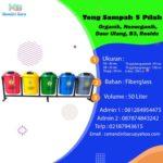 Tong Sampah Fiber 5 in 1 Bulat 50 Liter