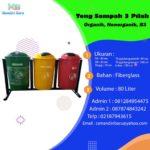 Tong sampah fiber 3 in 1 bulat 80 Liter