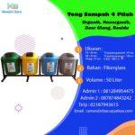 Tong Sampah 4 Pilah Kapasitas 50 Liter