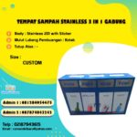 Tempat Sampah Stainless 4 in 1 Custom