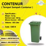 TONG SAMPAH 120 LITER PLASTIK CONTENUR