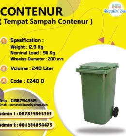 jual tempat sampah plastik, harga tong sampah plastik,