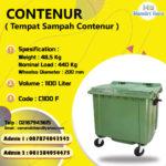 TONG SAMPAH PLASTIK CONTENUR 1100 LITER