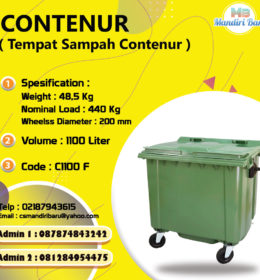 jual tong sampah contenur 1100 Liter, jual tong sampah plastik,