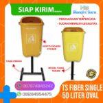 Tong sampah fiber single oval 50 liter