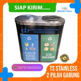 tong sampah stainless 2 pilah warna, jual tempat sampah stainless murah, jual tong sampah stainless kapsul di jakarta,
