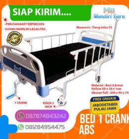 tempat tidur pasien 1 crank, tempat tidur pasien 2 crank, tempat tidur pasien 3 crank, tempat tidur pasien rawat inap, tempat tidur rs