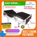JUAL BED PASIEN 2 CRANK POLYWOOD, Ranjang Rumah Sakit 2 Engkol