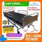 JUAL BED PASIEN 1 CRANK POLYWOOD, Ranjang Rumah Sakit 2 Engkol