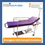 Jual Brankar UGD – Emergency Brancard Stainless Kumplit