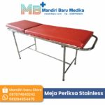 Meja Periksa – Examination Table Full Stainless Pipa Bulat