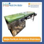 Meja Periksa Advance Stainless – Examination Table dengan Laci + Lemari